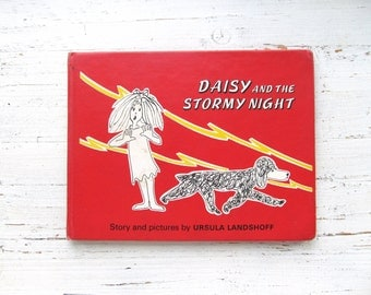 Daisy And The Stormy Night . Vintage Children's Book . Dogs . 1970