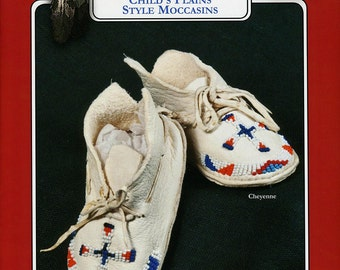 Missouri River Plains Style Indian Moccasin Sewing Pattern in Infant, Toddler & Child's Sizes