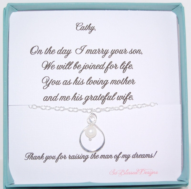 Wedding Gift For Mother In Law: Mother In Law Gift Wedding Necklace For Mother By