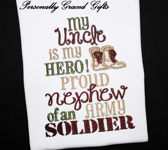 Niece And Nephew Quotes: My Uncle Is My Hero Proud Niece Or Nephew Of An Army Soldier