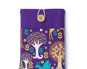 iPad Air 2 Case - iPad Cover with pocket - Padded Tablet Sleeve - Purple Forest