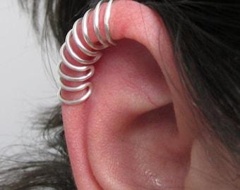 Ear Cuff, Silver Ear Cuff, Helix Ear Cuff, Cartilage Ear Cuff, Long Ear Cuff, No Pierce Ear Cuff, Edgy Ear Cuff