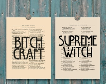 American horror story coven print bitch craft art supreme for American horror story wall mural