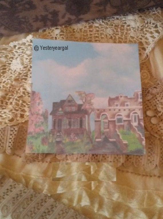 Stationery Victorian Houses Set