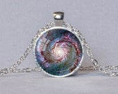 GALAXY PENDANT Whirlpool Galaxy Astronomy Gift for Astronomer Space Jewelry Geek Gift for Geek Science Jewelry Science Necklace