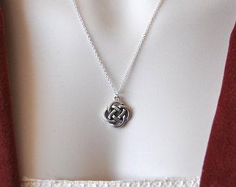 Celtic knot pendant etsy celtic knot charm necklace celtic knot pendant celtic pendant mystic knot pewter celtic symbol aloadofball Image collections