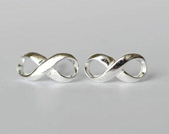 925 Sterling Silver Eight Glasses Silver Stud Earrings 003