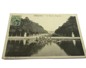 Versailles, Le Bassin d'Apollon . French Vintage Postcard .