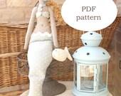 sewing mermaid pattern - mermaid pattern - mermaid sewing pdf pattern- doll sewing pattern