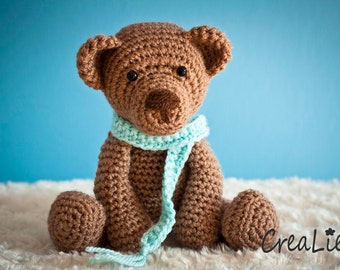 Instant Download! Crochet pattern PDF Teddybear Bear Bob | toy / doll / amigurumi / teddy