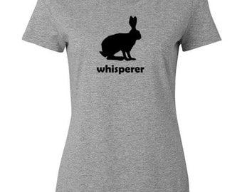 Rabbit Whisperer Gray T Shirt - adult, child shirt for a rabbit lover - rabbit T-shirt, rabbit gift, farmer gift, rabbit lover