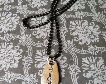 Double Sided Strength Necklace