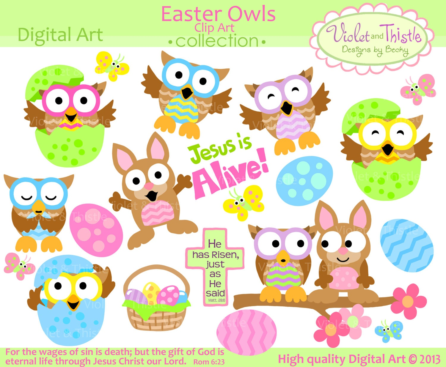 free easter owl clip art - photo #26