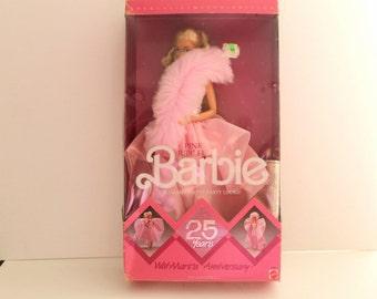 Vintage 1987 Pink Jubilee 25th Anniversary Barbie Doll Walmart Limited Edition Barbie Doll|Pink Jubilee Barbie Doll