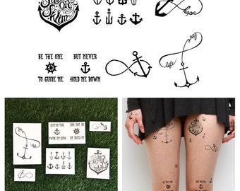 Tall Ships  - Temporary Tattoo (Set of 12)