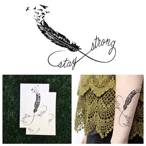 Stay strong tatouage temporaire ensemble de 2 - Stay strong tatouage ...