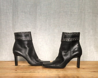 Vintage 90's Studded Ankle Boot