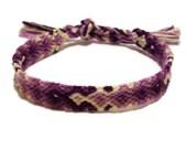Purple Gradient Arrowhead Pattern Embroidery Friendship Bracelet, Ombre Purple Arrow Pattern Bracelet