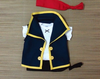 Jake Top(no shorts included)- Jake and the neverland pirate costume- Jake Birthday Outfit- Disney Cruise Pirates-Birtday Outfit- 6M to 7Year
