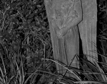 125 - Garden Angel Statue - B&W