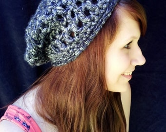 Anchorage Ice Adult-Sized Crochet Slouchy Hat - Taking Orders