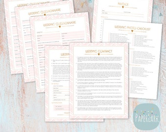 Wedding Contract and Business Forms Photoshop Template - NG015 - INSTANT DOWNLOAD
