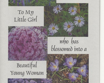 Handmade Greeting Card - Birthday - Daughter -  Laser printed