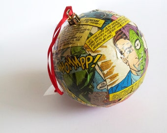 Comic Decoupage Ornaments! Various sizes and themes available!