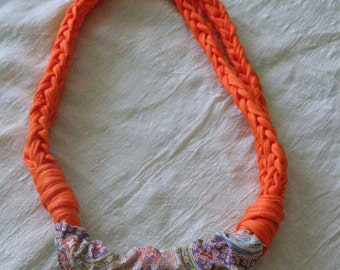 Necklace strap with fabric loop