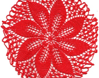 Center Red Crochet