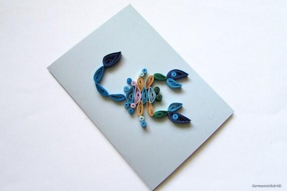 skorpion quilling karte sternzeichen gru karte mit skorpion. Black Bedroom Furniture Sets. Home Design Ideas