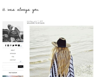 It Was Always You-- Premade Blogger Template