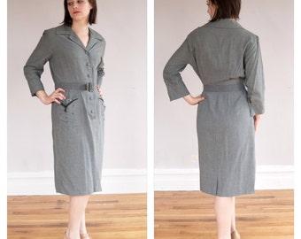 ON SALE Film Noir Dress * 1940s vintage beaded dress * Size 12-16