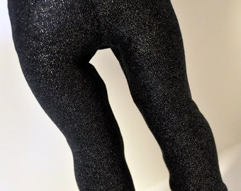 Black Glittery Leggings Jeggings 18 inch Doll Clothes