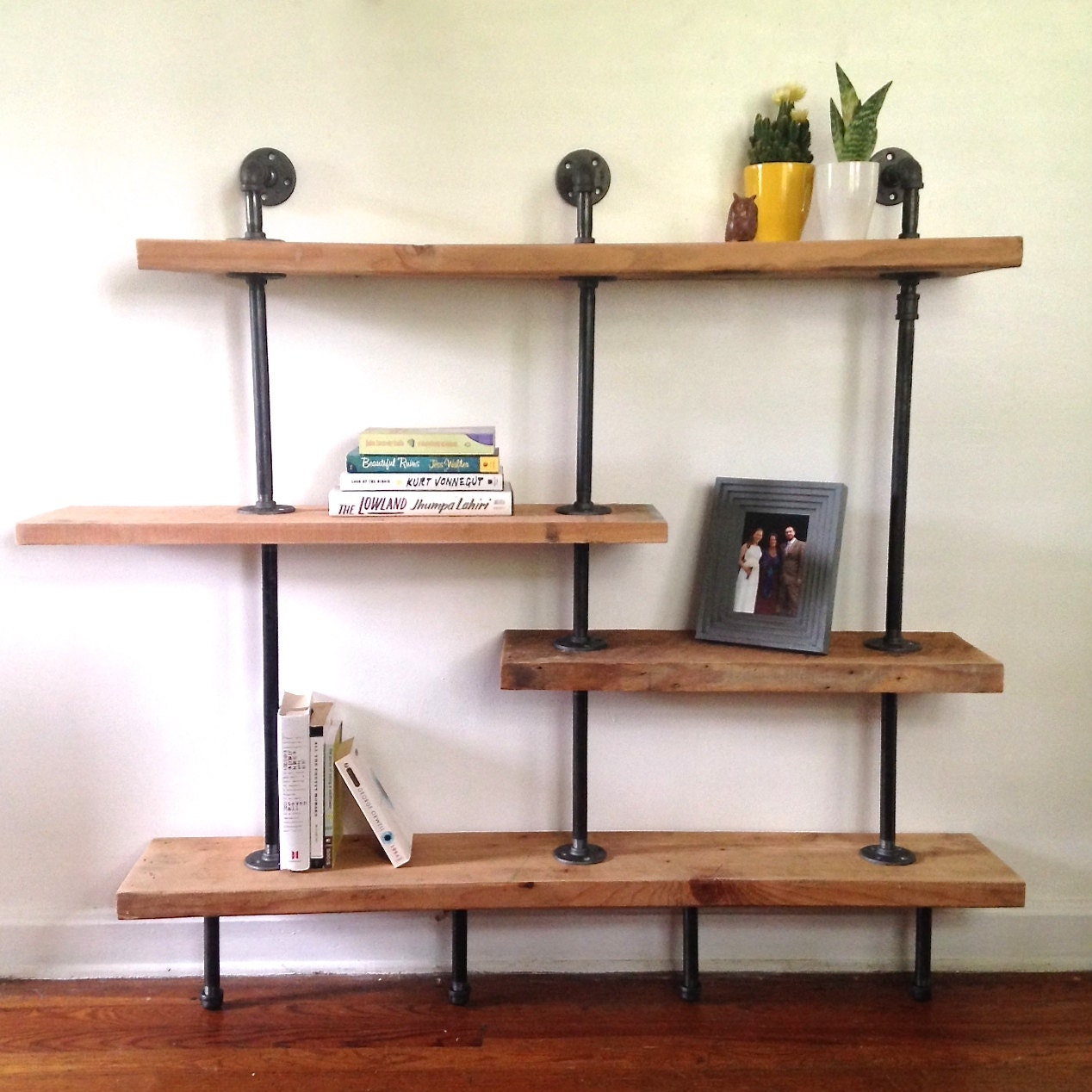 the addison bookshelf reclaimed wood shelving by arcandtimber. Black Bedroom Furniture Sets. Home Design Ideas