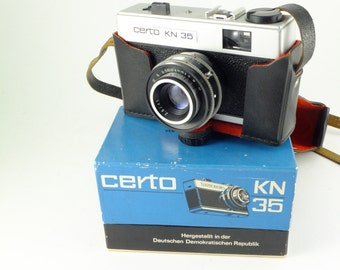 Rare CERTO KN 35 Camera Made in Germany 1970's Made by Certo Camera Boxed Viewfinder Camera Kosmar Lens 35mm ,Father's day Gift