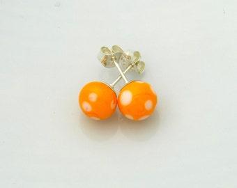 Yellow/Orange Lampwork earrings