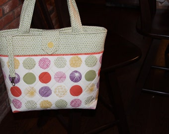 Multi-Colored Quilted Tote Bag