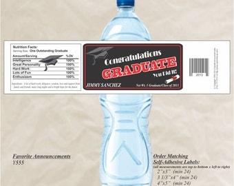 Graduation Party Labels, Water Bottle Labels, Graduation Labels, Custom Labels, Graduation Water Labels, high school (Set of 20)(Y555)