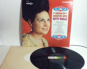 Kitty Wells Cream Of Country Hits Vintage Vinyl Record Album LP 1968 Decca Records DL 75067