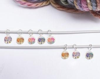 Knitting Stitch Markers , Tree Stitch Markers, Set of 8 Stitch markers (SMT1)