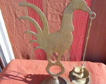 Vintage India Brass Lamp Antique Tamil Pooja Oil Lamp.
