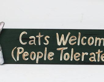 Cat sgin, Cats welcome, People tolerated, Oriental cat