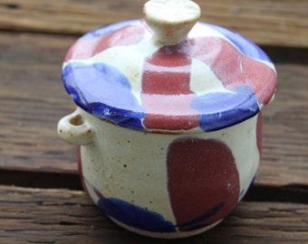 Hand Thrown Ceramic Jar with Lid