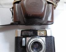 Zeiss Ikon Colora 1960s Film Camera with Novicar 50mm Lens & Original Case, made in Germany