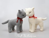 Cat Amigurumi Pattern,  seamless crocheted kitten instructions, baby shower, birthday gift, diy present, home decor, toy pattern