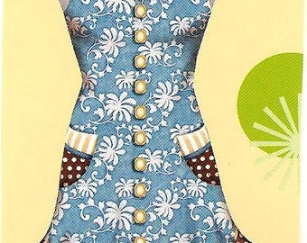 The Josephine Damask with polka dot Retro Apron Autism fundraiser