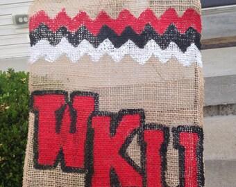 WKU - Western Kentucky University Burlap Garden Flag