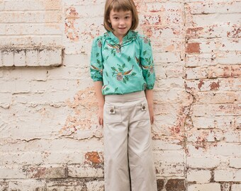Girl Organic Pants, organic twill pants,khaki girl pants,girl modern pants,toddler khaki pants,boutique clothing,size 3T, 4T, 5, 6, 7, 8, 10