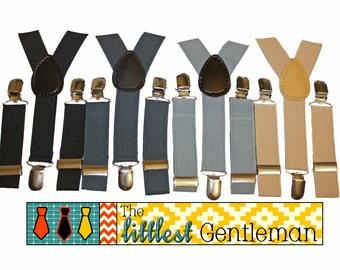 Boy suspenders..wedding boy accessories...baby boy suspenders...black suspenders..little boy suspender